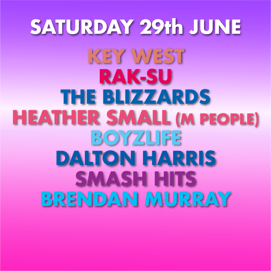 SATURDAY LINE UP MAIN STAGE